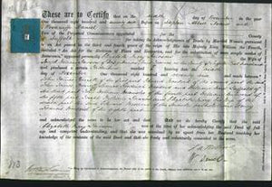 Deed by Married Women - Elizabeth Mary Dawson-Original Ancestry