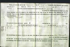 Deed by Married Women - Ann Keningale-Original Ancestry