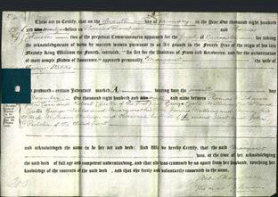 Deed by Married Women - Margaret Stables-Original Ancestry