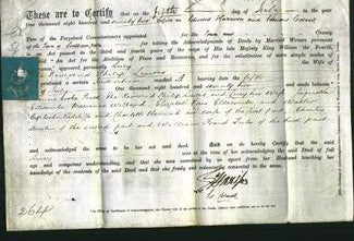 Deed by Married Women - Lucy Lewis-Original Ancestry