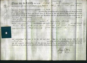 Deed by Married Women - Sarah Coe-Original Ancestry