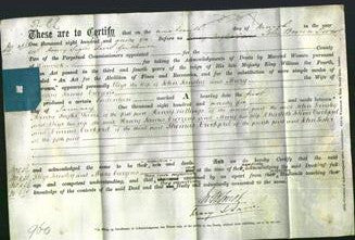 Deed by Married Women - Eliza Tansley and Mary Curzons-Original Ancestry