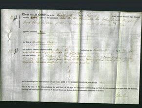 Deed by Married Women - Ann Cheffins-Original Ancestry