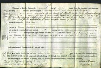 Deed by Married Women - Mary Ann Hardwick-Original Ancestry