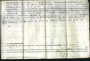 Deed by Married Women - Sarah Line-Original Ancestry