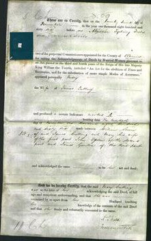 Deed by Married Women - Mary Cutting-Original Ancestry