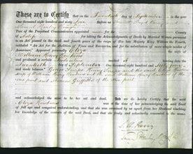 Deed by Married Women - Eliza Hawkins-Original Ancestry
