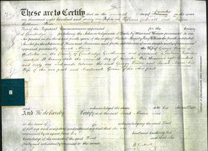 Deed by Married Women - Sarah Maria Winter-Original Ancestry