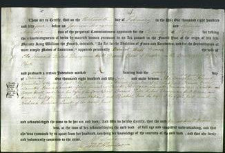 Deed by Married Women - Harriett Hull Brown-Original Ancestry