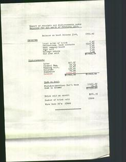 Report of receipts and disbursements under Receiver for the month of February 1914