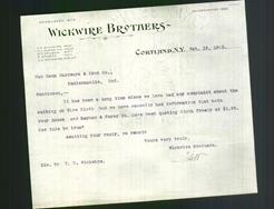 Letterhead - Wickwire Brothers