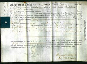 Deed by Married Women - Betty Towers-Original Ancestry