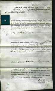 Deed by Married Women - Mary Peacock-Original Ancestry