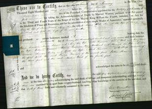Deed by Married Women - Mercy Pearson, Mary Anne Wood, Hannah Woodhead, Ruth Pender-Original Ancestry