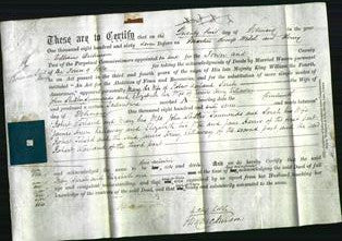 Deed by Married Women - Mary Warland, Sarah Simmonds, Elizabeth Killaway-Original Ancestry