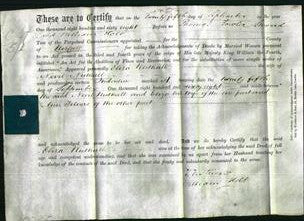 Deed by Married Women - Eliza Nuthall-Original Ancestry