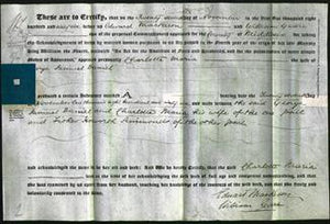 Deed by Married Women - Charlotte Maria Daniel-Original Ancestry