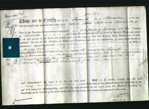 Deed by Married Women - Mary Ann Hall-Original Ancestry