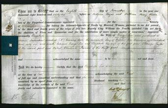 Deed by Married Women - Elizabeth Lea-Original Ancestry