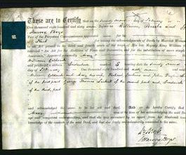 Deed by Married Women - Mary Goldsack-Original Ancestry