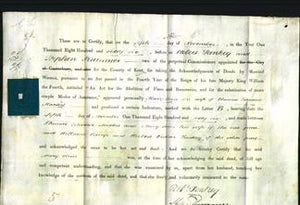 Deed by Married Women - Mary Ann Maxted-Original Ancestry