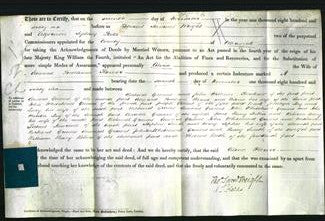 Deed by Married Women - Celina Flower #7-Original Ancestry
