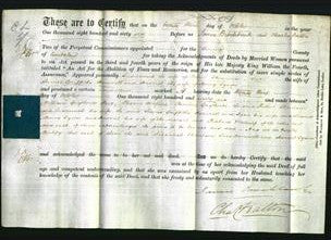 Deed by Married Women - Susannah Thompson, Jane Hamnett and Harriet Tyson-Original Ancestry