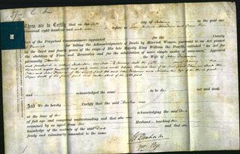 Deed by Married Women - Amelia Trueman-Original Ancestry