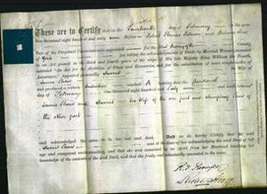 Deed by Married Women - Harriet Shaw-Original Ancestry
