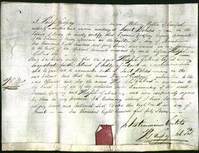 Notarial Certificate - Phillipe Gallard and James Godfray-Original Ancestry