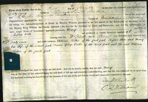 Deed by Married Women - Mary Wiles-Original Ancestry