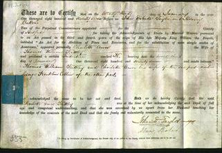 Deed by Married Women - Charlotte Ann Kettley-Original Ancestry