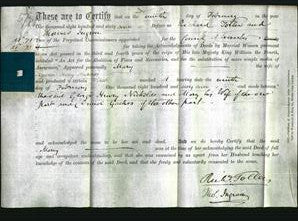 Deed by Married Women - Mary Nickolds-Original Ancestry