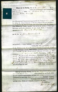 Deed by Married Women - Elizabeth Heywood Leech-Original Ancestry
