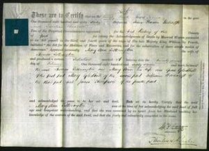 Deed by Married Women - Mary Ann Titterington-Original Ancestry