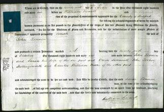 Deed by Married Women - Sarah Lonnon-Original Ancestry