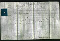 Deed by Married Women - Elizabeth Cartwright-Original Ancestry