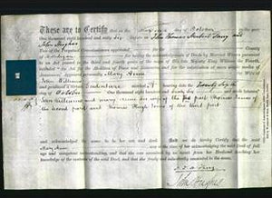 Deed by Married Women - Mary Anne Williams-Original Ancestry