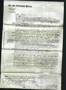 Court of Common Pleas - Anne Hughes, Elizabeth Hughes-Original Ancestry
