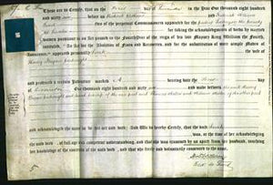 Deed by Married Women - Sarah Cartwright-Original Ancestry
