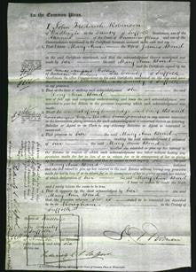 Court of Common Pleas - Mary Ann Bond-Original Ancestry