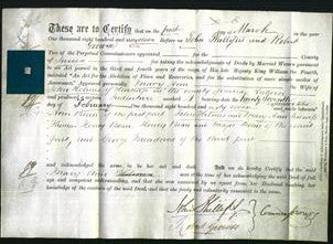 Deed by Married Women - Mary Ann Holmes-Original Ancestry