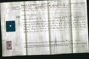 Deed by Married Women - Mary Ann Barrow-Original Ancestry