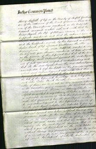 Court of Common Pleas - Keziah Anness-Original Ancestry