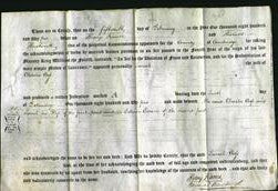 Deed by Married Women - Sarah Cross-Original Ancestry