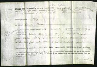 Deed by Married Women - Mary Fenton-Original Ancestry