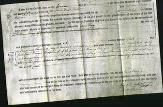 Deed by Married Women - Jane Fogg-Original Ancestry