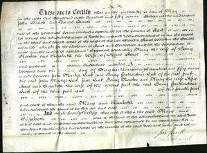 Deed by Married Women - Mary Hoakes and Elizabeta Stone-Original Ancestry