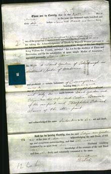 Deed by Married Women - Eliza Ann Gordon-Original Ancestry