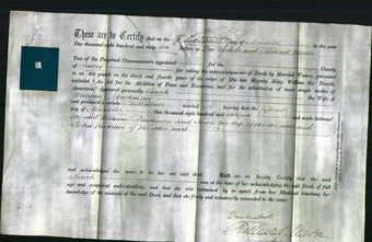 Deed by Married Women - Sarah Blackman-Original Ancestry
